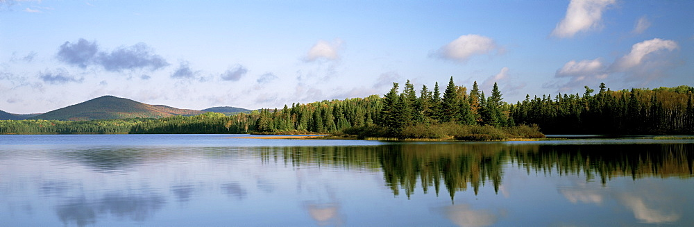 Mount Carleton Provincial Park and Bathurst Lake, New Brunswick.