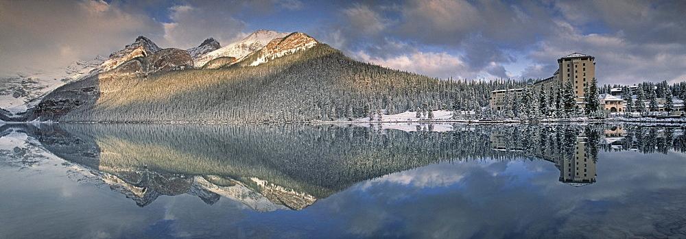 Lake Louise and Chateau Lake Louise, Banff, Alberta Canada.