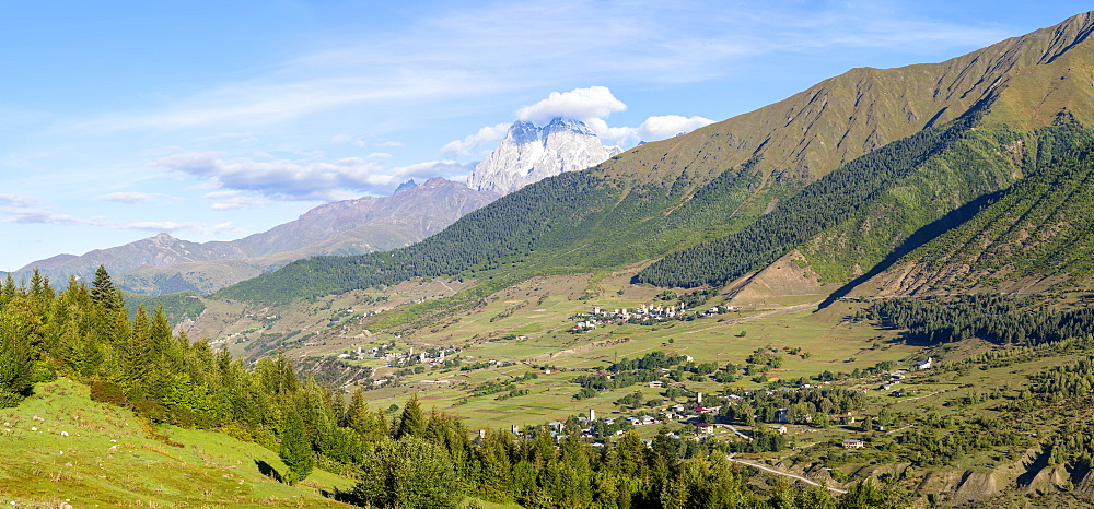 Mulhaki Mountain village, Mestia, Svaneti region, Georgia, Central Asia, Asia