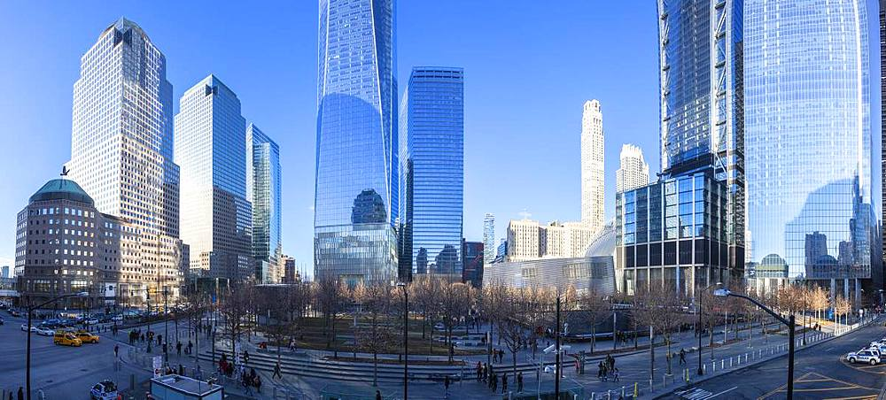 9/11 Memorial and World Trade Center, Lower Manhattan, New York City, United States of America, North America