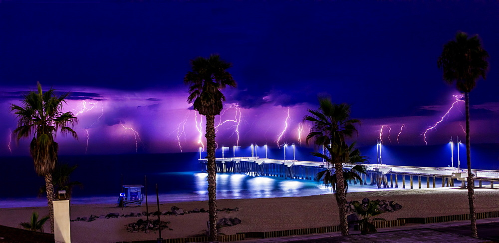 Venice Lightning, California, United States of America, North America