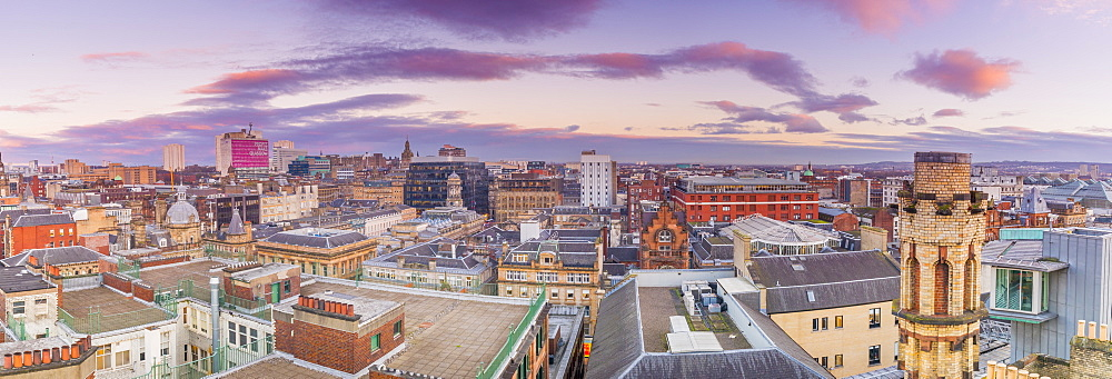 Panoramic view of Glasgow, Scotland, United Kingdom, Europe