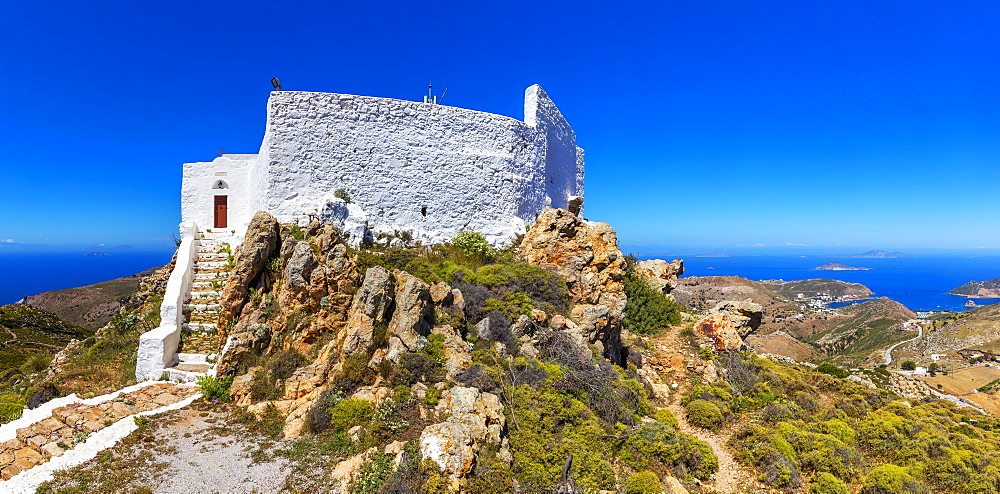 The Profita Elias monastery,Patmos, Dodecanese, Greece