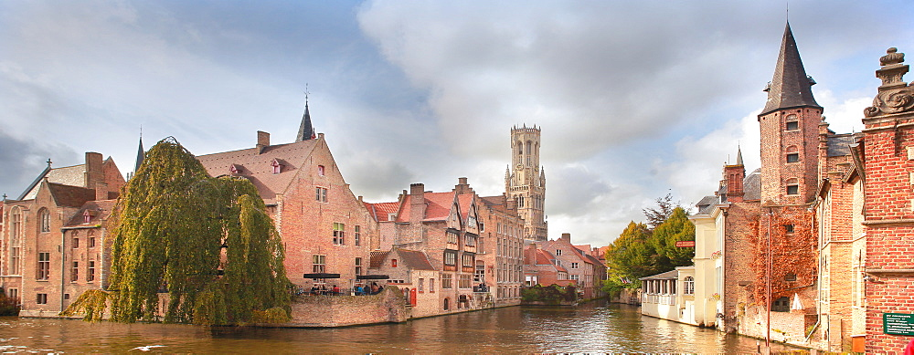 Rosary Quay, Bruges, UNESCO World Heritage Site, Flemish Region, West Flanders, Belgium