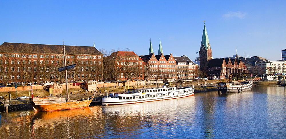 Weser river, Bremen, Germany