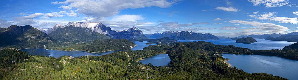 Panoramic view of Cerro Campanario, Bariloche, Patagonia, Argentina, South America