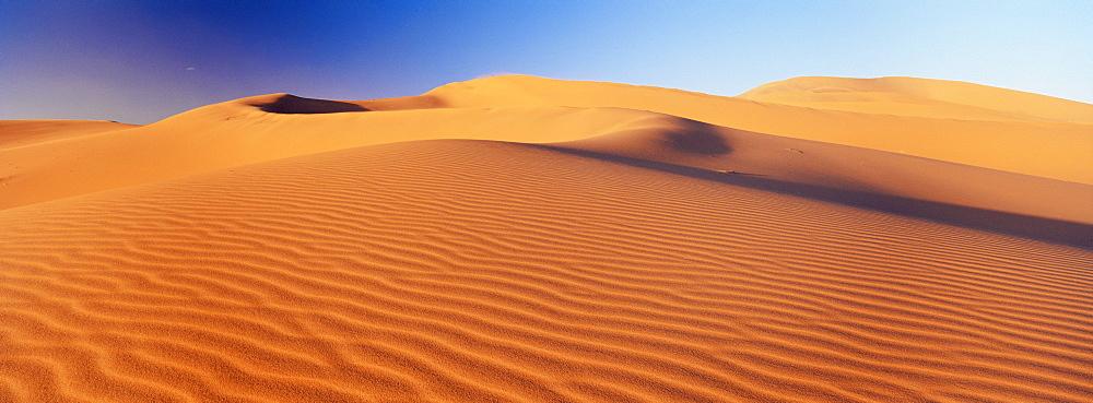 Sand dune of the Erg Chebbi, Sahara Desert near Merzouga, Morocco, North Africa, Africa