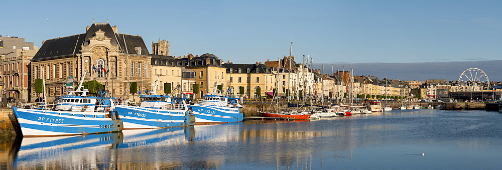 Dieppe harbour waterfront fishing port, Dieppe, Seine-Maritime, Normandy, France, Europe