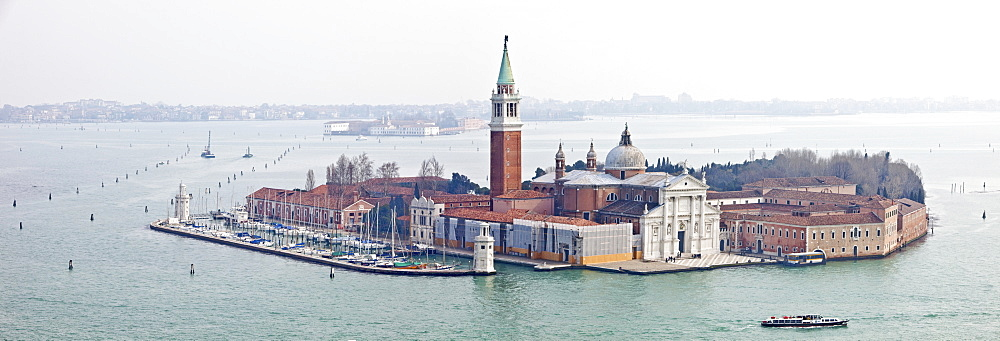 Taken from Campanile in St. Marks Square looking over The Lido, Venice, UNESCO World Heritage Site, Veneto, Italy, Europe - 385-1654
