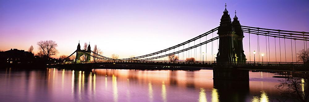 Hammersmith Bridge, London, England, United Kingdom, Europe - 563-307