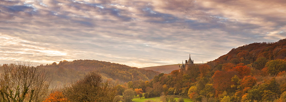 Castell Coch (Castle Coch) (The Red Castle), Tongwynlais, Cardiff, Wales, United Kingdom, Europe