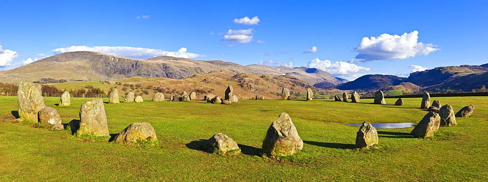 Standing stones of Castlerigg stone circle near Keswick, Lake District National Park Cumbria, England, United Kingdom, Europe