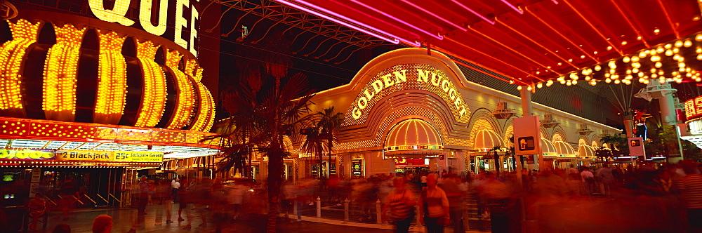 Fremont Street at night, Las Vegas, Nevada, USA