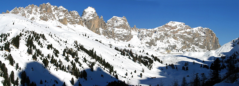 Gardena mountain pass, Sella mountain chain, Trentino Alto Adige, Italy