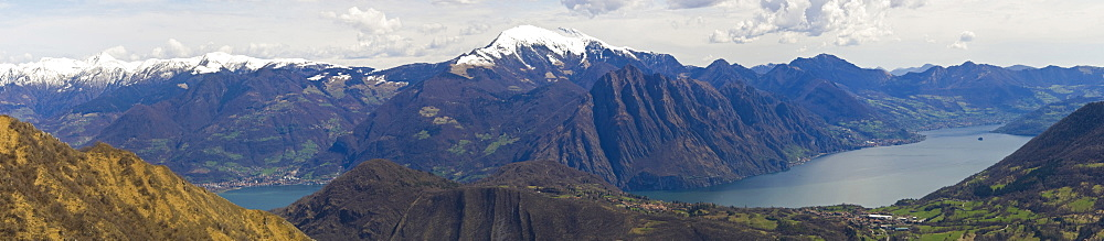 guglielmo mountain and iseo lake, grione mountain, italy