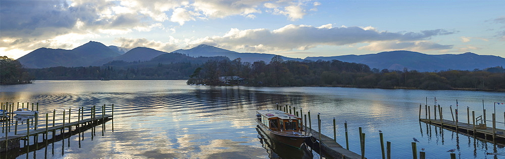 Boat landings, Derwentwater, Keswick, Lake District National Park, Cumbria, England, United Kingdom, Europe