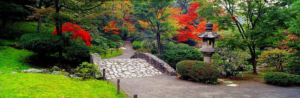 Stone Bridge The Japanese Garden Seattle WA USA