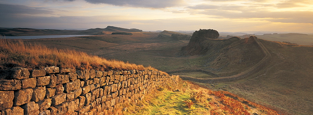 Hadrians wall, Northumberland, Uk