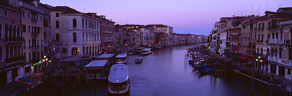 Buildings along a canal, Venice, Italy