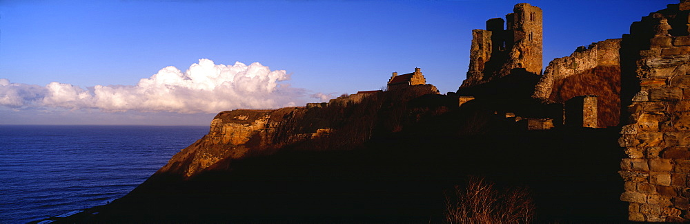 Castle on the coast, Scarborough, North Yorkshire, England