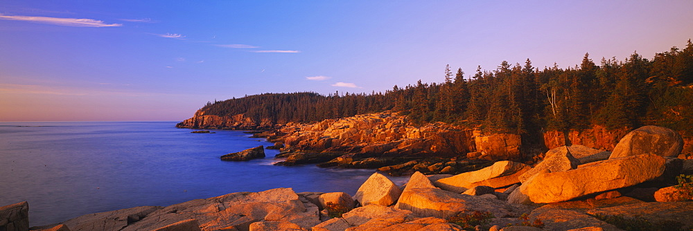 Rocks on the coast, Acadia National Park, Maine, New England, USA - 752-1681