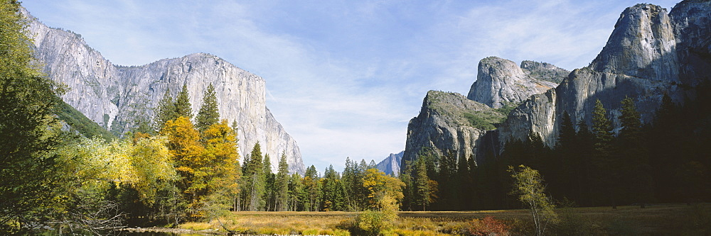 Low angle view of mountains in a national park, Yosemite National Park, California, USA - 752-1710