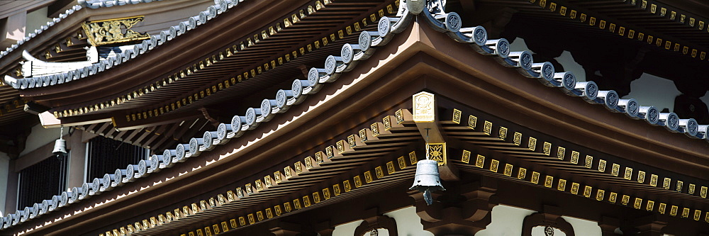 Close-up of a temple, Hase Kannon Temple, Kamakura, Kanagawa Prefecture, Kanto Region, Japan - 752-1722