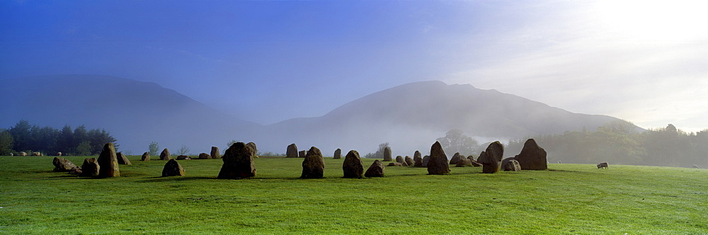 Stone Circle On A Landscape, Castlerigg Stone Circle, Keswick, Lake District, Cumbria, England, United Kingdom - 752-1830