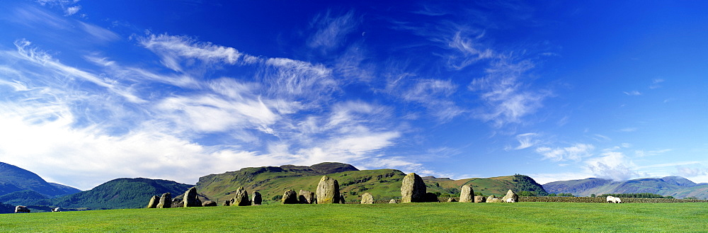 Stone Circle On A Landscape, Castlerigg Stone Circle, Keswick, Lake District, Cumbria, England, United Kingdom - 752-1832