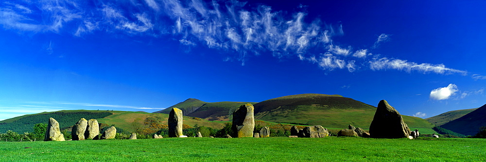Stone Circle On A Landscape, Castlerigg Stone Circle, Keswick, Lake District, Cumbria, England, United Kingdom - 752-1833