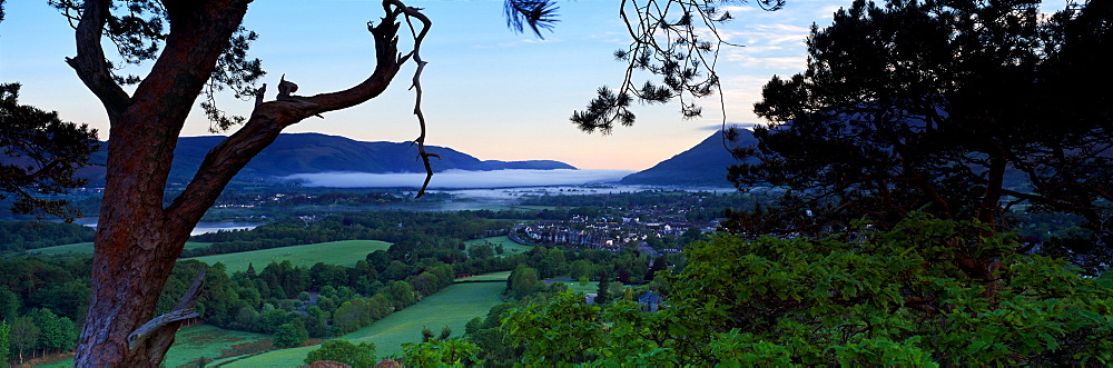 High Angle View Of A Town, Keswick, Lake District National Park, Cumbria, England, United Kingdom - 752-1836