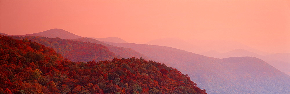 Autumn Blue Ridge Mountains SC USA