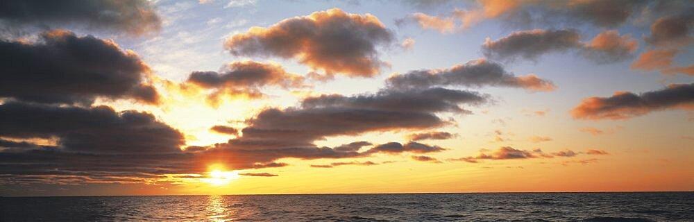 Sunset Lake Michigan MI USA