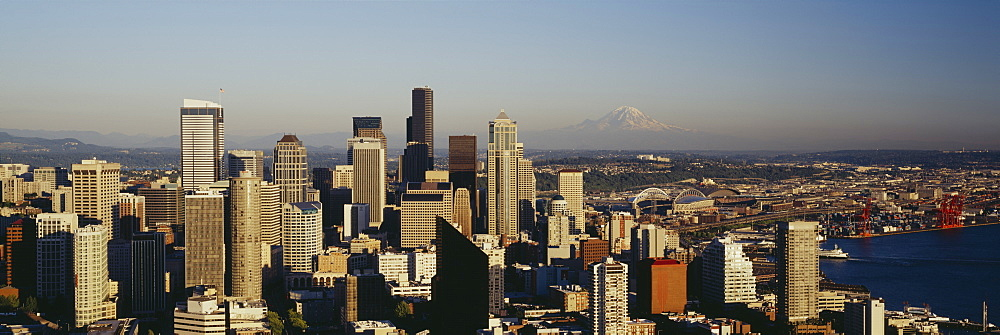 High angle view of a city, Seattle, Washington State, USA