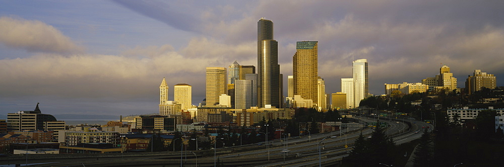 Buildings in the morning light, Seattle, Washington State, USA