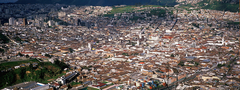 Ecuador's capital and second largest city Quito's old colonial area centered on Plaza de la Independence a World Heritage Site, Quito, Ecuador