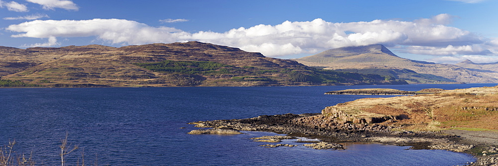 Loch Scridain and Ben More in the distance, Isle of Mull, Scotland, United Kingdom, Europe - 770-1530