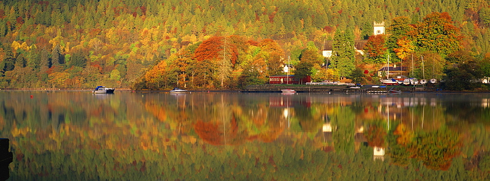 Kenmore and Loch Tay in autumn, Perthshire, Scotland, United Kingdom, Europe - 789-128