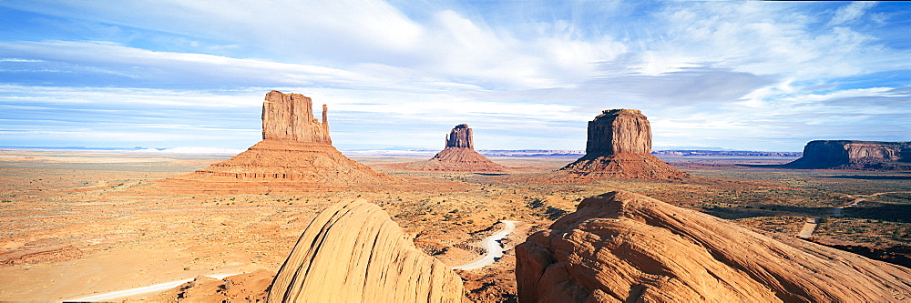 The Mittens, Navajo Tribal Park, Monument Valley, Arizona, United States of America, North America