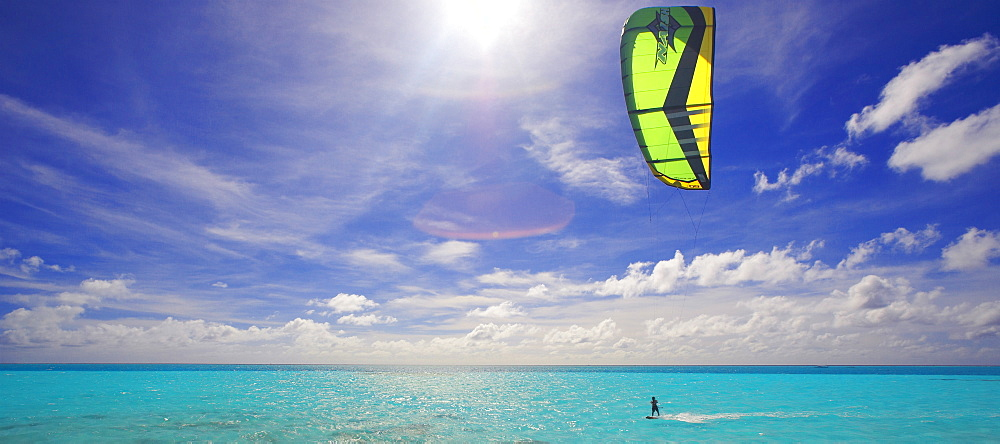 Kite surfing, Maldives, Indian Ocean, Asia