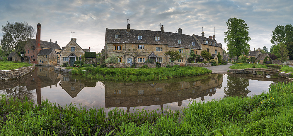 The picturesque Cotswolds village of Lower Slaughter, Gloucestershire, England. Spring (May) 2019. - 799-3806