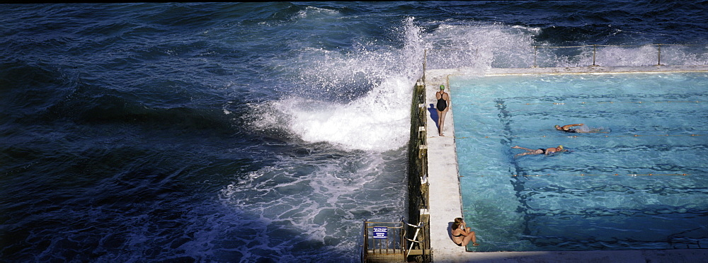 Swimmers in Bondi Icebergs pool, Sydney, New South Wales, Australia, Pacific