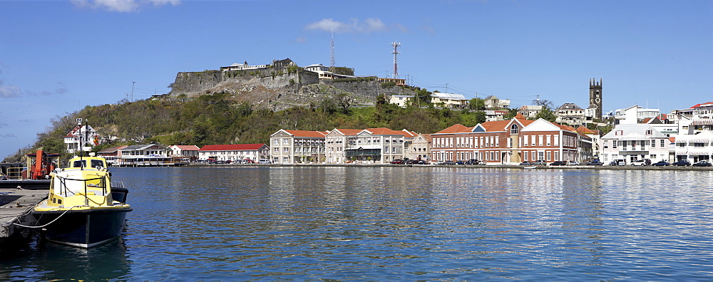 View of St. George's across water, Grenada, Windward Islands, West Indies, Caribbean, Central America