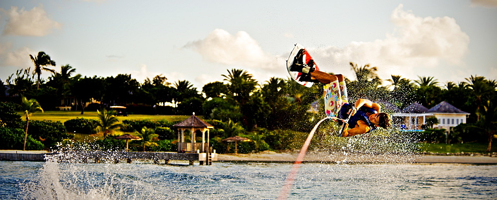 Wakeboarding in Antigua, West Indies, Caribbean, Central America - 824-78