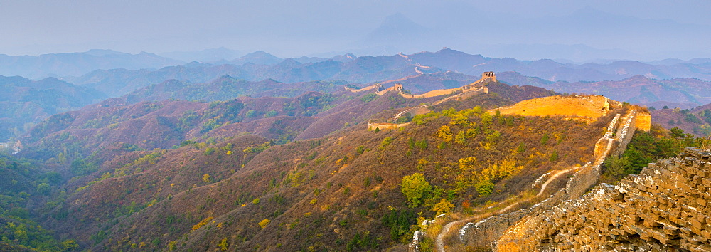 Gubeikou to Jinshanling section of the Great Wall of China, UNESCO World Heritage Site, Miyun County, Beijing Municipality, China, Asia