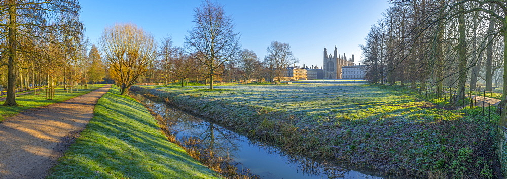 King's College Chapel, Cambridge University, The Backs, Cambridge, Cambridgeshire, England, United Kingdom, Europe