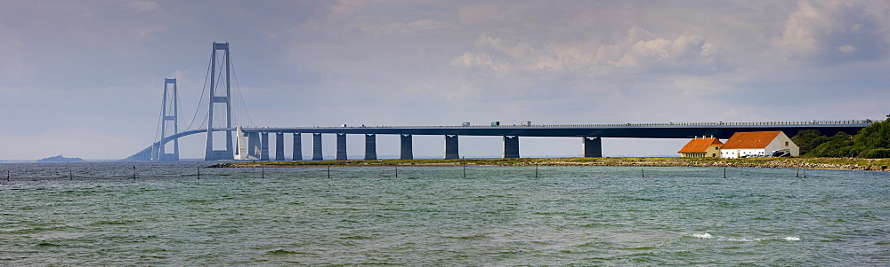 StorebÊltsforbindelsen or Great Belt Bridge, Nyborg, Korsor, Southern Denmark, Denmark, Europe
