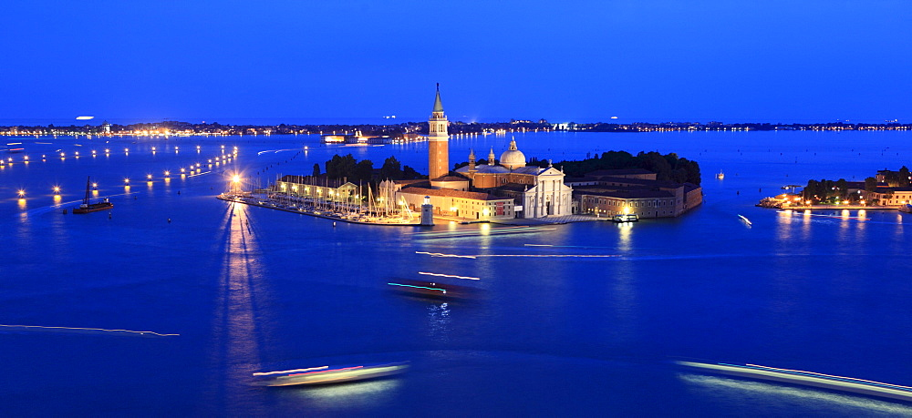 Island and San Giorgio Maggiore Church, Venice, Venice, Veneto, Italy, Europe
