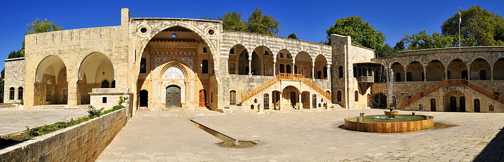 Patio of Beit ed-Dine, Beiteddine Palace of Emir Bashir, Chouf, Lebanon, Middle East, West Asia