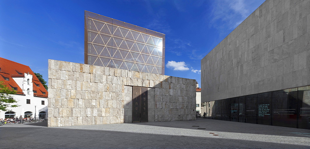 Jewish Centre on Jakobsplatz square with Ohel Jakob Synagogue, Munich, Upper Bavaria, Bavaria, Germany, Europe